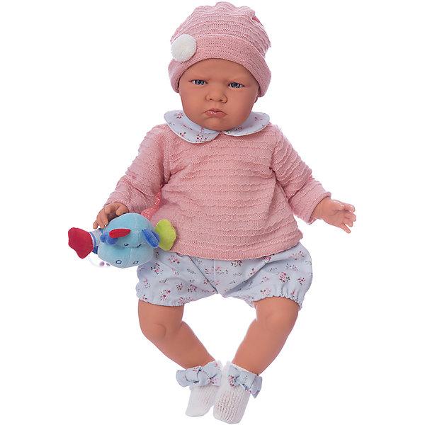 Кукла Бернардита в голубом,52 см, Munecas Antonio JuanКуклы<br>Характеристики:<br><br>• возраст: от 3 лет;<br>• материал: винил, текстиль;<br>• высота куклы: 52 см;<br>• в наборе: кукла, аксессуары;<br>• тип батареек: 3хLR44 1,5 V;<br>• наличие батареек: в комплекте;<br>• вес упаковки: 1,75 кг.;<br>• размер упаковки: 59х29х14,5 см;<br>• страна бренда: Испания;<br>• подарочная упаковка.<br><br>Кукла «Бернардита» Munecas Antonio Juan выглядит как настоящий младенец. При ее разработке учитывались все анатомические особенности строения тела малышей.<br><br>Бернардита реагирует на нажатия на животик – смеется или по-детски лепечет. Ручки, ножки и голова подвижны, сделаны из винила. Лицо детально проработано. Тельце игрушки набито мягким наполнителем, от этого кукла очень приятна на ощупь.<br><br>Кукла выполнена из качественных гипоаллергенных материалов, устойчива к механическим воздействиям. При загрязнении игрушку можно протереть салфеткой с мыльным раствором.<br><br>Куклу «Бернардита» в голубом, 52 см, Munecas Antonio Juan можно купить в нашем интернет-магазине.<br>Ширина мм: 590; Глубина мм: 290; Высота мм: 145; Вес г: 1750; Цвет: pink/blau; Возраст от месяцев: 36; Возраст до месяцев: 2147483647; Пол: Женский; Возраст: Детский; SKU: 7936885;