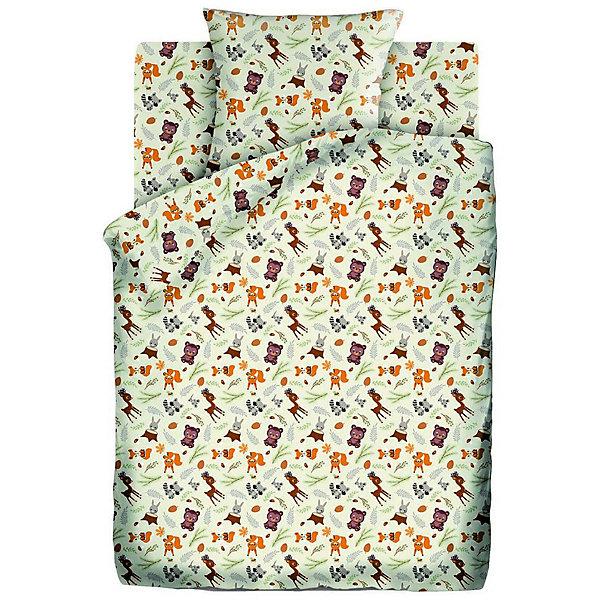 Купить Детское постельное белье 1, 5 сп. Кошки-Мышки (70х70см) Маленькие зверушки, Кошки-мышки, Россия, разноцветный, Унисекс