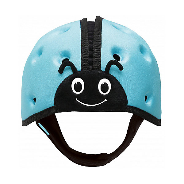 Мягкая шапка-шлем для защиты головы SafeheadBABY Божья коровка, синийЗащита малыша<br>Характеристики:<br><br>• возраст: от 7 месяцев до 2 лет<br>• обхват головы: 40 – 52 см.<br>• вес: менее 100 гр.<br>• особенности: ударопрочный; хорошо пропускает воздух; никакого давления на растущую голову и развивающиеся мышцы шеи.<br>• материал: внутренняя поверхность: хлопок, наружный слой: нейлон, спандекс, пена высокой плотности с закрытыми ячейками<br>• уход: только ручная стирка в слабом мыльном растворе, сушка в закрытом помещении<br>• не предназначен для использования во время занятий спортом, включая езду на велосипеде, катание на лыжах или на доске.<br><br>Запатентованный получивший награды мягкий головной убор предназначен детей, которые учатся ходить. Шапка-шлем защитит голову малыша при падении с высоты своего роста, от ударов при вставании и неуверенной ходьбе. С ним вам не нужно ходить по пятам за неустойчиво стоящим малышом, что даёт родителям душевное спокойствие, а ребенку свободу движений, которая ему так необходима.<br><br>Шлем очень легкий, поэтому нет лишней нагрузки на голову и шею. Размер регулируется. Удобный регулируемый ремешок можно быстро расстегнуть. Специально разработанная конструкция и отверстия по всей поверхности обеспечивают хорошую пропускаемость воздуха, что не дает голове малыша перегреться. Комфорт и оптимальная температура внутри шлема снижают шансы того, что ребенок захочет его снять.<br><br>Мягкая шапка-шлем для защиты головы SafeheadBABY «Божья коровка» - это идеальное решение для активных малышей, как в помещении, так и на улице.<br><br>Мягкую шапку-шлем для защиты головы SafeheadBABY Божья коровка, синюю можно купить в нашем интернет-магазине.<br>Ширина мм: 200; Глубина мм: 170; Высота мм: 140; Вес г: 120; Цвет: синий; Возраст от месяцев: 7; Возраст до месяцев: 24; Пол: Унисекс; Возраст: Детский; SKU: 7941357;