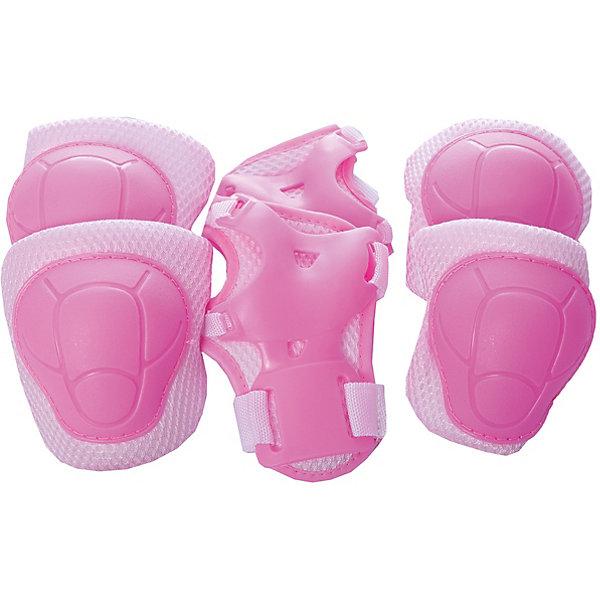 Защита локтя, запястья, колена, р.S, Z-SportsЗащитные аксессуары<br>Характеристики товара:<br><br>• возраст от 5 лет;<br>• цвет: розовый;<br>• комплект: наколенники, налокотники, защита для кисти;<br>• материал: полимер, пластик, текстиль;<br>• регулировка размера;<br>• размер упаковки 50х17х4 см;<br>• вес упаковки: 245 гр.;<br>• упаковка: пакет с европодвесом;<br>• бренд, страна: Z-Sports, Китай.<br><br>Набор защитной экипировки  Z-Sports создан специально для любителей спортивных игр и активного отдыха. С помощью такого набора ребенок сможет смело кататься на роликах или скейте, не боясь получить травму. Удобная и надежная, защитная экипировка  Z-Sports снижает до минимума риск получить травму при падении. Защитный комплект выполнен в современном стильном дизайне и изготовлен из качественных текстильных материалов. <br><br>Набор защитной экипировки для девочки  Z-Sports ZS-100 (розовый) можно приобрести в нашем интернет-магазине.<br>Ширина мм: 170; Глубина мм: 40; Высота мм: 500; Вес г: 1500; Цвет: розовый; Возраст от месяцев: 96; Возраст до месяцев: 144; Пол: Женский; Возраст: Детский; SKU: 7942707;