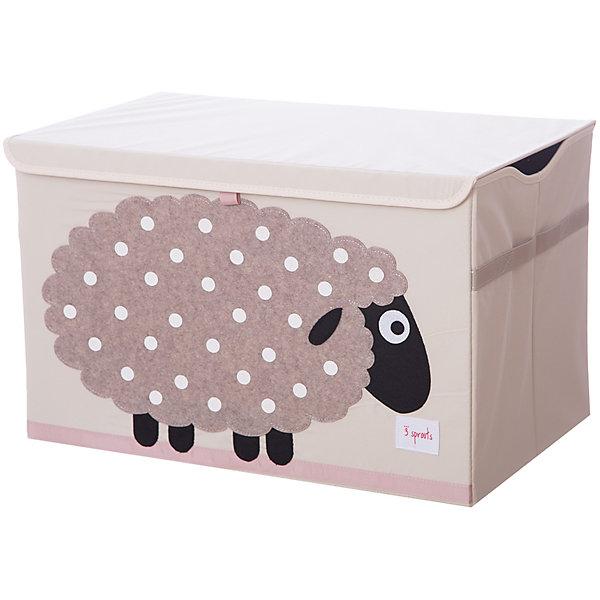Сундук для хранения игрушек 3 Sprouts Бежевая овечка (Beige Sheep SPR909). Арт. 00039Ящики для игрушек<br>Характеристики:<br><br>• возраст: с рождения;<br>• материал: 100% полиэстер, 100% полиэстровая фетровая аппликация;<br>• размер сундука: 38х61х37 см;<br>• вес упаковки: 2,43 кг.;<br>• размер упаковки: 63х2х63 см;<br>• страна бренда: Канада.<br><br>Сундук для хранения игрушек 3 Sprouts «Бежевая овечка» организует пространство в детской. В коробке легко поместятся книжки, игрушки или белье. Крышка сундука защитит содержимое от пыли. Закрытый сундучок сделает внешний вид комнаты более прибранным.<br><br>Изделие имеет интересный дизайн с аппликацией, приятно на ощупь, что важно для развития тактильных ощущений у малыша.<br><br>Стенки сундука усилены картоном. Выполнено из качественных безопасных материалов.<br><br>Сундук для хранения игрушек 3 Sprouts «Бежевая овечка» можно купить в нашем интернет-магазине.<br>Ширина мм: 63; Глубина мм: 2; Высота мм: 63; Вес г: 2432; Цвет: бежевый; Возраст от месяцев: 0; Возраст до месяцев: 144; Пол: Унисекс; Возраст: Детский; SKU: 7943059;