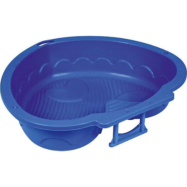 Песочница-бассейн PalPlay Сердечко, синяяИграем в песочнице<br>Характеристики:<br><br>• возраст: от 2 лет;<br>• материал: пластик;<br>• цвет: синий;<br>• максимальная нагрузка: 40 кг;<br>• размер: 20х90,5х90,5 см;<br>• вес: 1,6 кг;<br>• бренд: PalPlay.<br> <br>Песочница-бассейн PalPlay  «Сердечко», красная отлично размещается дома или на улице. Производитель гарантирует качество и безопасность. Материал изделия - прочный нетоксичный пластик, который соответствует европейским стандартам. Рекомендуется для малышей от полутора лет и старше. Можно использовать как детскую песочницу и мини-бассейн.<br><br>Песочницу-бассейн PalPlay  «Сердечко», синюю можно купить в нашем интернет-магазине.<br>Ширина мм: 200; Глубина мм: 905; Высота мм: 905; Вес г: 1600; Цвет: синий; Возраст от месяцев: 24; Возраст до месяцев: 120; Пол: Унисекс; Возраст: Детский; SKU: 7949217;