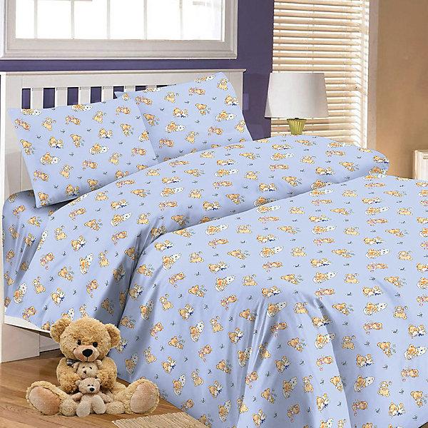 Купить Детское постельное белье 3 предмета Letto, BG-64, Россия, синий, Унисекс