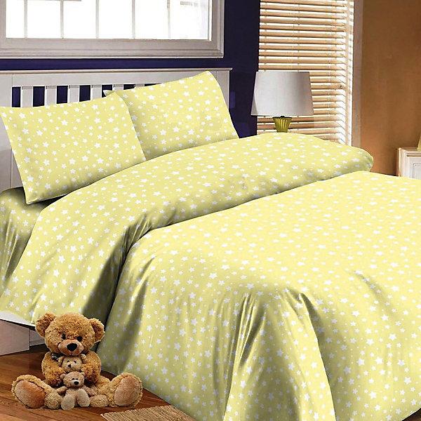 Купить Детское постельное белье 3 предмета Letto, простыня на резинке, BGR-57, Россия, желтый, Унисекс