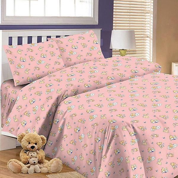 Детское постельное белье 3 предмета Letto, простыня на резинке, BGR-63
