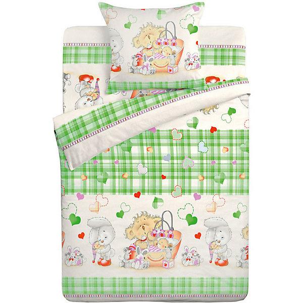 Детское постельное белье 3 предмета Letto, простыня на резинке, BGR-72