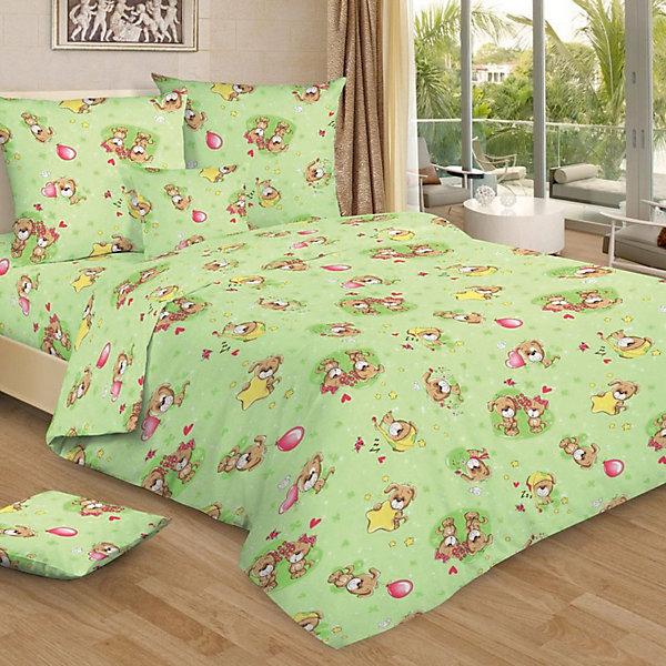 Купить Детское постельное белье 3 предмета Letto, BG-75, Россия, зеленый, Унисекс