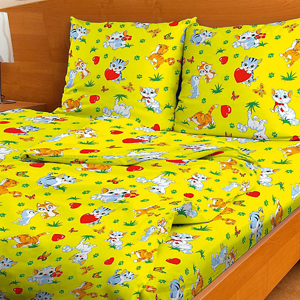 Детское постельное белье 1,5 сп. Letto,МурзикДетское постельное бельё<br>Характеристики:<br><br>• в комплекте: простыня, пододеяльник, наволочка;<br>• размер комплекта: полутораспальный;<br>• тип ткани: бязь (100% хлопок);<br>• цвет: желтый;<br>• рисунок: печатный принт;<br>• уход за вещами: бережная стирка при 30 градусах;<br>• размер пододеяльника: 145 х 210 см.;<br>• размер наволочки: 50 х 70 см.;<br>• размер простыни: 150 х 210 см.;<br>• размер упаковки: 37 х 5 х 30 см.;<br>• вес: 1,5 кг.;<br>• бренд, страна: Letto, Россия.<br><br>Красивый и качественный комплект постельного белья от торговой марки Letto состоит из простыни, наволочки и пододеяльника. Эта модель произведена из плотного хлопка, полотняного плетения, группы перкаль, с использованием современных устойчивых и в то же время, гипоаллергенных красителей. Такое белье прослужит долго и выдержит много стирок. <br><br>Комплект ярко-желтого цвета с веселым котенком обязательно понравится вашему малышу и подарит ему приятные сны и комфортный отдых. Добавит теплоты и уюта в интерьер детской комнаты.<br><br>Все комплекты снабжены потайной молнией на пододеяльнике, что делает ее их еще более практичными в использовании. <br><br>Детское постельное белье 1,5 сп. Letto, Мурзик, желтый вы можете купить в нашем интернет-магазине.<br>Ширина мм: 300; Глубина мм: 370; Высота мм: 50; Вес г: 1500; Цвет: желтый; Возраст от месяцев: 36; Возраст до месяцев: 144; Пол: Унисекс; Возраст: Детский; SKU: 7949336;