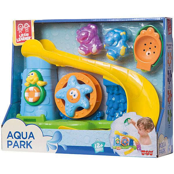 Набор для купания HAP-P-KID АквапаркИгрушки для ванной<br>Характеристики:<br><br>• возраст: от 1,5 лет<br>• в наборе: аквапарк с множеством игровых элементов, 2 фигурки (слон и бегемот), ковшик и дуршлаг для воды<br>• материал: пластик<br>• упаковка: картонная коробка блистерного типа<br>• размер упаковки: 30х25х9 см.<br>• вес: 583 гр.<br><br>Яркий набор для купания «Аквапарк» превратит купание малыша в веселую игру. Водные горки и фонтаны развлекут ребенка во время посещения ванной.<br><br>Аквапарк крепится к поверхности при помощи присосок на корпусе. В наборе специальный ковшик и дуршлаг для воды. Можно приводить в действие черепашку-фонтан с помощью ковшика и кнопки, спускать по двум горкам фигурки слона и бегемота, а если налить воду на горку, то колесо с морской звездой под ней начнет вращаться.<br><br>Набор изготовлен из пластика повышенной прочности, который не деформируется от ударов и окрашен стойкими к контакту с водой сертифицированными красителями.<br><br>Набор для купания «Аквапарк» не только разнообразит игры в ванной, но и станет основой для увлекательной сюжетной игры, в процессе которой малыш проявит фантазию и улучшит мелкую моторику.<br><br>Набор для купания HAP-P-KID Аквапарк можно купить в нашем интернет-магазине.<br>Ширина мм: 320; Глубина мм: 270; Высота мм: 510; Вес г: 583; Возраст от месяцев: 12; Возраст до месяцев: 36; Пол: Унисекс; Возраст: Детский; SKU: 7958306;