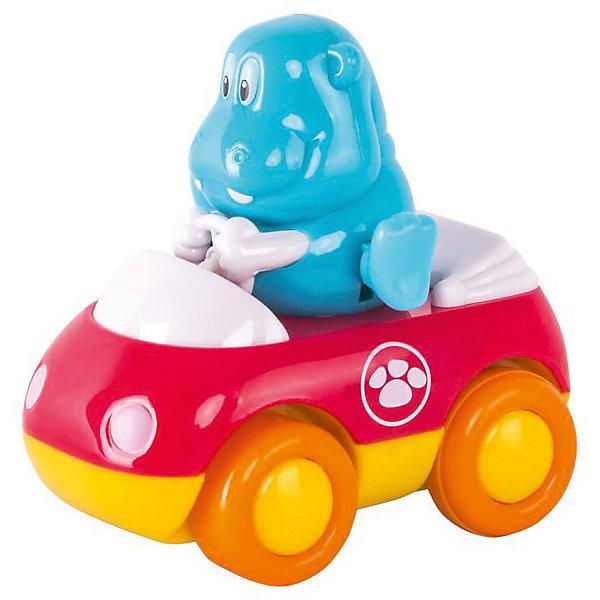 Зверушки на колесиках HAP-P-KID БегемотМашинки<br>Характеристики:<br><br>• возраст: от 1 года<br>• длина машинки: 9 см<br>• вес машинки: 164 гр.<br>• материал: пластик<br><br>Забавная игрушка «Бегемот» из серии «Зверушки на колесах» разнообразит игры малыша. Ребенок сможет с радостью наблюдать за движениями машинки и забавного бегемота.<br><br>Машинка оснащена инерционным механизмом, благодаря которому может ездить самостоятельно, для чего ее нужно хорошенько откатить назад и отпустить. У машинки широкие колеса, она быстро набирает скорость при езде и ей не страшны препятствия на пути. Бегемот во время движения весело шевелит ножками. Чем выше скорость автомобиля, тем быстрее двигаются ножки.<br><br>Игрушка выполнена из сертифицированного, ударопрочного пластика, который окрашен высококачественными, стойкими красителями. Не имеет острых углов или зазубрин.<br><br>Зверушку на колесиках HAP-P-KID Бегемот можно купить в нашем интернет-магазине.<br>Ширина мм: 140; Глубина мм: 70; Высота мм: 210; Вес г: 164; Возраст от месяцев: 12; Возраст до месяцев: 36; Пол: Унисекс; Возраст: Детский; SKU: 7958314;