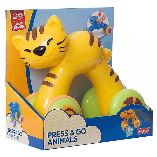 Котёнок HAP-P-KID, серия Нажми и поедетКаталки и качалки<br>Характеристики:<br><br>• возраст: от 1 года<br>• размер игрушки: 17 см<br>• материал: пластик<br>• батарейки не требуются<br>• упаковка: картонная коробка блистерного типа<br>• размер упаковки: 18,4х10,1х18,1 см.<br>• вес: 417 гр.<br><br>Игрушка из серии «Нажми и поедет», выполненная в виде забавного котенка, покорит сердце любого ребенка. Веселый котенок привлекает внимание оригинальным дизайном и ярким цветовым исполнением.<br><br>Чтобы начать игру, достаточно надавить на спинку котенка, и он покатится вперед, преодолевая небольшие препятствия. Продуманная конструкция и широкие колесики предотвращают переворачивание.<br><br>Игрушка выполнена из сертифицированного, ударопрочного пластика, который окрашен высококачественными, стойкими красителями. Модель не имеет острых углов или зазубрин.<br><br>Игрушка из серии «Нажми и поедет» разовьет воображение, координацию движений и моторику ребенка.<br><br>Котёнка HAP-P-KID, серии Нажми и поедет можно купить в нашем интернет-магазине.<br>Ширина мм: 184; Глубина мм: 101; Высота мм: 181; Вес г: 417; Возраст от месяцев: 12; Возраст до месяцев: 36; Пол: Унисекс; Возраст: Детский; SKU: 7958318;