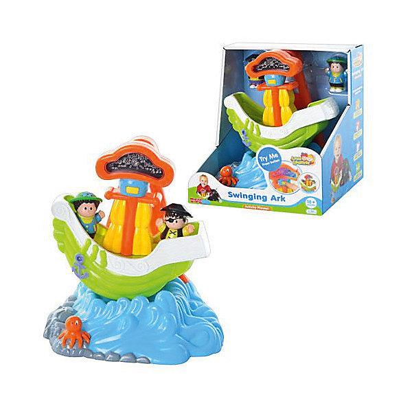 Игровой набор HAP-P-KID Кораблик (свет, звук)Интерактивные игрушки для малышей<br>Характеристики:<br><br>• возраст: от 1,5 лет<br>• в наборе: кораблик на мини-дуге со световыми, звуковыми эффектами, 2 фигурки человечков<br>• материал: пластик<br>• размер игрушки: 23х21х19 см<br>• размер фигурок: 6,5 см<br>• батарейки: 3 типа АА<br>• наличие батареек: входят в комплект<br>• упаковка: картонная коробка<br>• размер упаковки: 23,4х19х25,7 см<br>• вес: 913 гр.<br><br>Игровой набор «Кораблик» со световыми и звуковыми эффектами станет основой для тематической сюжетной игры о приключениях пиратов, путешествующих на корабле.<br><br>Фигурки пиратов, входящие в набор, нужно разместить на борту корабля, насадив на специальные штырьки. Затем нажать на кнопку, чтобы корабль начал раскачиваться, как будто плывет по волнам. Плавание будет сопровождаться звучанием музыки и забавных звуков (крик чаек, детский смех, льющаяся вода), а также подсветкой мачты. Также на игрушке есть несъемный элемент - осьминог, у которого можно вращать голову.<br><br>Набор выполнен из ударопрочного пластика, сертифицированного для производства детских игрушек. Элементы набора окрашены стойкими красителями, которые сохранят первоначальный цвет на долгое время.<br><br>Игрушка развивает мелкую моторику рук, хватательные рефлексы, фантазию.<br><br>Игровой набор HAP-P-KID Кораблик (свет, звук) можно купить в нашем интернет-магазине.<br>Ширина мм: 234; Глубина мм: 190; Высота мм: 257; Вес г: 913; Возраст от месяцев: 12; Возраст до месяцев: 36; Пол: Унисекс; Возраст: Детский; SKU: 7958328;