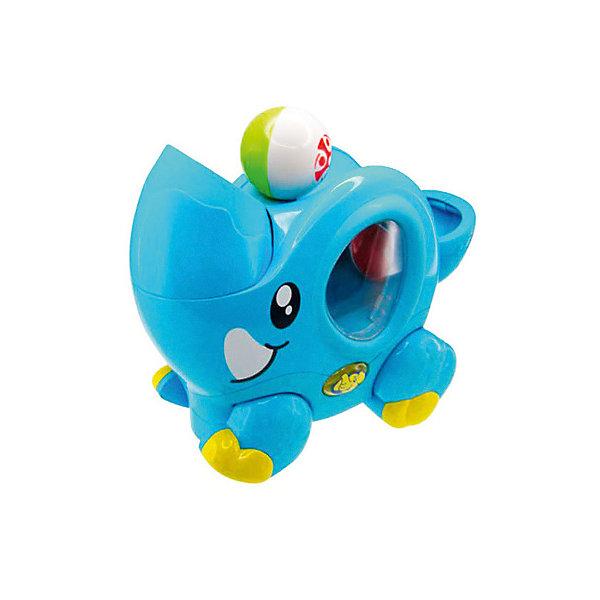 Цирковой слоненок HAP-P-KIDИнтерактивные игрушки для малышей<br>Характеристики:<br><br>• возраст: от 1,5 лет<br>• комплектация: слоненок, 2 разноцветных шарика<br>• размер игрушки: 23x19 см.<br>• материал: пластик<br>• батарейки: 3 типа ААА<br>• наличие батареек: входят в комплект<br>• упаковка: картонная коробка<br>• размер упаковки: 34,1х12,7х23,2 см.<br>• вес: 900 гр.<br><br>Ярко-голубой цирковой слоненок со световыми и звуковыми эффектами – это развивающая игрушка, которая тренирует координацию движений, внимательность и логику. Слоненок может двигаться и жонглировать шариками под веселую мелодию.<br><br>Шарики загружаются в заднюю часть игрушки, при нажатии на кнопку, они выскочат из хобота слоненка, упадут на спинку и по ней скатятся к хвосту. Хобот слона вращается, поэтому, если вы хотите, чтобы шары не упали в хвост, а отлетели в стороны, достаточно перевернуть хобот - это побудит малыша двигаться и ловить разноцветные шары. Внутренняя часть слоненка оснащена прозрачным пластиковым окошком, через которое виден процесс перемещения шариков. Двигается слоненок прямо или по кругу (настраиваемая опция).<br><br>Набор изготовлен из качественного, гипоаллергенного пластика, который полностью безопасен в использовании и окрашен особыми нетоксичными красителями.<br><br>Циркового слоненка HAP-P-KID (ХЭП-П-КИД) можно купить в нашем интернет-магазине.<br>Ширина мм: 341; Глубина мм: 127; Высота мм: 232; Вес г: 900; Возраст от месяцев: 12; Возраст до месяцев: 36; Пол: Унисекс; Возраст: Детский; SKU: 7958340;