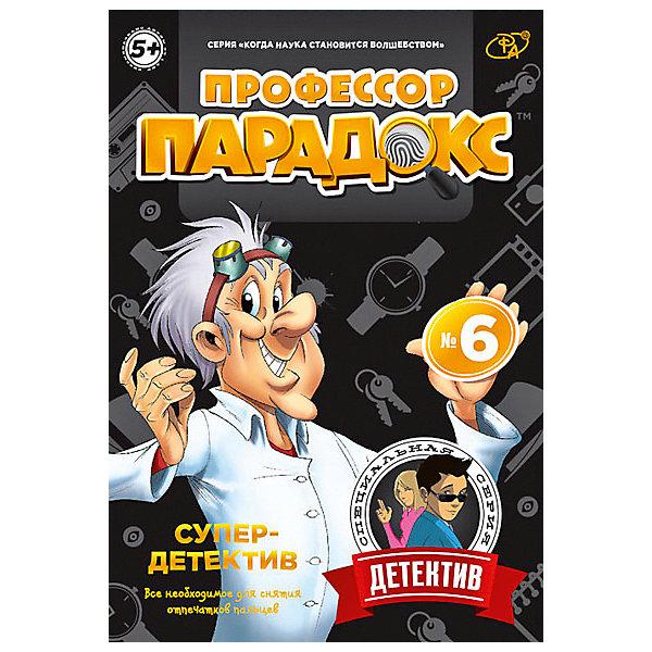 Игровой набор Профессор Парадокс Супердетектив №6Химия и физика<br>Характеристики товара:<br><br>• возраст: от 5 лет;<br>• материал: пластик, бумага;<br>• в комплекте:сейф, карточки, ручка, лампы, очки, DVD;<br>• размер упаковки: 17х26х6 см;<br>• вес упаковки: 270 гр.;<br>• страна бренда: Россия.<br><br>Набор Суперагент - это увлекательная игрушка, которая не оставит равнодушным вашего ребенка. Ваш ребенок станет настоящим детективом, способным снимать отпечатки пальцев на месте ограбления, заполнять полицейские бланки и искать преступников.<br> <br>Отличительной особенностью набора Профессор Парадокс является наличие DVD диска. Он поведает в игровой форме Вашим деткам как выполнить каждый опыт из наполнения коробки и дополнительные опыты из подручных средств, которые найдутся в каждом доме.<br>Откройте Вашему чадо множество увлекательных экспериментов, которые его научат делать невероятные вещи и познавать окружающий мир! <br><br>Игровой набор Профессор Парадокс Суперагент №6 можно купить в нашем интернет-магазине.<br>Ширина мм: 170; Глубина мм: 55; Высота мм: 245; Вес г: 142; Цвет: разноцветный; Возраст от месяцев: 72; Возраст до месяцев: 2147483647; Пол: Унисекс; Возраст: Детский; SKU: 7959923;
