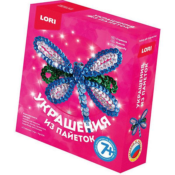 Набор для создания украшений из пайеток LORI Заколка СтрекозаКартины пайетками<br>Характеристики:<br><br>• возраст: от 7 лет<br>• в наборе: основа для заколки, пайетки, бисер, проволока, подробная инструкция.<br>• упаковка: картонная коробка<br>• размер упаковки: 11,3х4х13,5 см.<br>• вес: 55 гр.<br><br>Набор для творчества «Стрекоза» из серии «Украшения из пайеток» от производителя LORI (ЛОРИ) позволит девочке создать оригинальную заколку-автомат.<br><br>В комплект входят основа для заколки, разноцветные пайетки, бисер для глаз стрекозы, проволока и подробная инструкция.<br><br>Девочка будет увлечена процессом создания яркой заколки, которая придаст ее облику неповторимый вид.<br><br>Набор Украшения из пайеток. Заколка Стрекоза LORI (ЛОРИ) можно купить в нашем интернет-магазине.<br>Ширина мм: 40; Глубина мм: 40; Высота мм: 113; Вес г: 55; Цвет: разноцветный; Возраст от месяцев: 84; Возраст до месяцев: 2147483647; Пол: Унисекс; Возраст: Детский; SKU: 7960876;