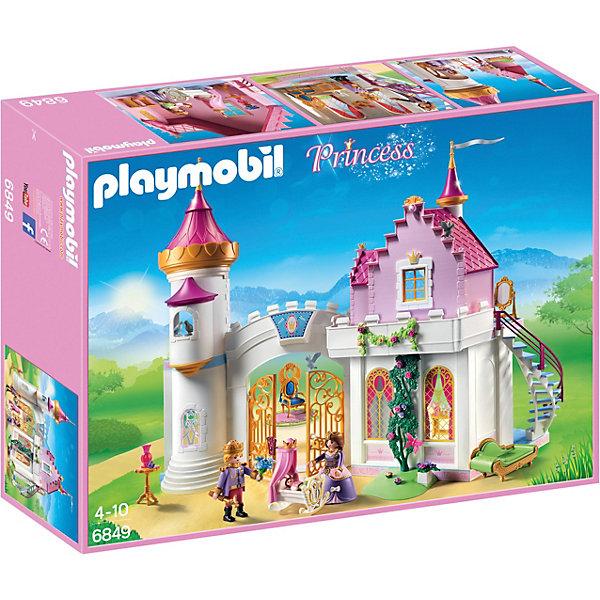 Конструктор Playmobil Замок Принцессы Королевская РезиденцияПластмассовые конструкторы<br>Характеристики товара:<br><br>• возраст: от 4 лет;<br>• материал: пластик;<br>• в комплекте: 3 фигурки, замок, аксессуары;<br>• размер упаковки: 51,5х38,5х12,5 см;<br>• вес упаковки: 2,41 кг;<br>• страна бренда: Германия.Игровой набор «Замок Принцессы: Королевская резиденция» Playmobil включает в себя фигурки и настоящий королевский замок со множеством дополняющих его аксессуаров. Замок состоит из нескольких частей: башни, дворцовых ворот и резиденции короля. На второй этаж резиденции ведет лестница. Двухстворчатые входные ворота могут открываться  в обе стороны и могут быть заблокированы с помощью поворотной защелки. У фигурок подвижные детали.Игровой набор «Замок Принцессы: Королевская резиденция» Playmobil можно приобрести в нашем интернет-магазине.<br>Ширина мм: 515; Глубина мм: 125; Высота мм: 385; Вес г: 2410; Возраст от месяцев: 60; Возраст до месяцев: 84; Пол: Женский; Возраст: Детский; SKU: 7965985;