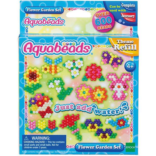 Набор для творчества Aquabeads Цветочный садМозаика<br>Характеристики товара:<br><br>• возраст: от 4 лет;<br>• в комплекте: более 600 бусин, лист шаблонов, инструкция;<br>• размер упаковки: 14х3х18 см;<br>• вес упаковки: 140 гр.;<br>• страна бренда: Япония.<br><br>Теперь каждый сможет сделать у себя дома чудесный цветочный сад из бусин Aquabeads. Яркие и красочные цветочки, растения и зверюшки - обитатели этого сада только и ждут, чтобы украсить комнату ребенка!<br><br>Набор для творчества Aquabeads Цветочный сад можно купить в нашем интернет-магазине.<br>Ширина мм: 140; Глубина мм: 30; Высота мм: 180; Вес г: 110; Возраст от месяцев: 48; Возраст до месяцев: 2147483647; Пол: Унисекс; Возраст: Детский; SKU: 7966839;