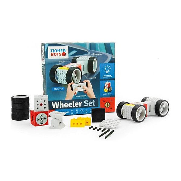 Конструктор Tinkerbots Микропроцессорные системыРобототехника и электроника<br>Характеристики товара:<br><br>• возраст: от 5 лет;<br>• в комплекте: кубик Power Brain, колесо, электромотор, блок-ось, крутящийся блок, инфракрасный сенсорный блок-выключатель, блок-датчик света, инструкция;<br>• размер упаковки: 22х5х22 см;<br>• вес упаковки: 500 гр;<br>• страна производитель: Германия.<br><br>Набор Микропроцессорные системы познакомит вас и ваших детей с миром роботов. С ним вы сможете создать различные машины и роботы и оживить их, научив двигаться вручную или используя приложение Tinkerbots App для смартфонов и планшетов.<br><br>Сердце и мозг TinkerBots - это красный кубик Power Brain, который содержит аккумулятор, передатчик Bluetooth 4.0, динамик, микроконтроллер Arduino, сопрягающийся с другими микроконтроллерами с помощью последовательного периферийного интерфейса, USB-порт для зарядки и кнопку интерфейса.<br>Также существуют другие живые блоки, такие как колесо, электромотор, блок-ось, крутящийся блок, инфракрасный сенсорный блок-выключатель, блок-датчик света и другие. Для увеличения построек и конструкций можно воспользоваться пассивными блоками из конструктора.<br><br>TinkerBots не требует проведения проводов между блоками или специального программирования. Конструктор максимально прост. Также интересной функцией является возможность записи/прокрутки движений робота. Нажав на красном кубе кнопку записи, есть возможность записать любое движение робота, просто изменяя его форму нужным образом. Затем это движение робот сможет с легкостью повторить. Для более удобного контроля над роботом-игрушкой необходимо скачать специальное мобильное приложение TinkerBots.<br><br>Конструктор Tinkerbots Микропроцессорные системы можно купить в нашем интернет-магазине.<br>Ширина мм: 225; Глубина мм: 55; Высота мм: 225; Вес г: 500; Цвет: разноцветный; Возраст от месяцев: 36; Возраст до месяцев: 2147483647; Пол: Унисекс; Возраст: Детский; SKU: 7968578;