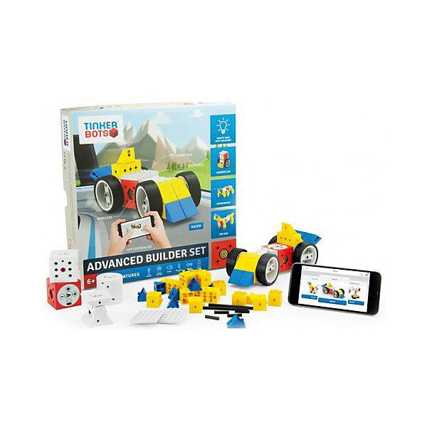 Конструктор Tinkerbots Расширенный строительный наборРобототехника и электроника<br>Характеристики товара:<br><br>• возраст: от 6 лет;<br>• в комплекте: кубик Power Brain, колесо, электромотор, блок-ось, крутящийся блок, инфракрасный сенсорный блок-выключатель, блок-датчик света, инструкция;<br>• размер упаковки: 29х5х29 см;<br>• вес упаковки: 1100 гр;<br>• страна производитель: Германия.<br><br>Конструктор Tinkerbots Расширенный строительный набор познакомит вас и ваших детей с миром роботов. С ним вы сможете создать различные машины и роботы и оживить их, научив двигаться вручную или используя приложение Tinkerbots App для смартфонов и планшетов.<br><br>Сердце и мозг TinkerBots - это красный кубик Power Brain, который содержит аккумулятор, передатчик Bluetooth 4.0, динамик, микроконтроллер Arduino, сопрягающийся с другими микроконтроллерами с помощью последовательного периферийного интерфейса, USB-порт для зарядки и кнопку интерфейса.<br>Также существуют другие живые блоки, такие как колесо, электромотор, блок-ось, крутящийся блок, инфракрасный сенсорный блок-выключатель, блок-датчик света и другие. Для увеличения построек и конструкций можно воспользоваться пассивными блоками из конструктора.<br><br>TinkerBots не требует проведения проводов между блоками или специального программирования. Конструктор максимально прост. Также интересной функцией является возможность записи/прокрутки движений робота. Нажав на красном кубе кнопку записи, есть возможность записать любое движение робота, просто изменяя его форму нужным образом. Затем это движение робот сможет с легкостью повторить. Для более удобного контроля над роботом-игрушкой необходимо скачать специальное мобильное приложение TinkerBots.<br><br>Конструктор Tinkerbots Расширенный строительный набор можно купить в нашем интернет-магазине.<br>Ширина мм: 290; Глубина мм: 55; Высота мм: 290; Вес г: 1100; Цвет: разноцветный; Возраст от месяцев: 36; Возраст до месяцев: 2147483647; Пол: Унисекс; Возраст: Детский; SKU: 79