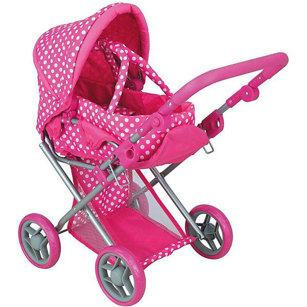 Коляска - трансформер Buggy Boom , розовый с мишкамиТранспорт и коляски для кукол<br>Характеристики товара:<br><br>• возраст: от 3 лет;<br>• материал: полиэстер, пластик, металл;<br>• в комплекте: коляска, переноска;<br>• размер коляски: 66х36х66 см;<br>• диаметр колес: 15 см;<br>• высота ручки: 45-55 см;<br>• размер упаковки: 45х38х15 см;<br>• вес упаковки: 2,75 кг.<br><br>Коляска-трансформер для кукол Buggy Boom Infinia розовая с мишками — коляска для любимой куколки девочки, в комплекте к которой идет переноска с ручками. Переноска устанавливается прямо на сидение, при желании ее можно снять и трансформировать коляску в прогулочную.<br><br>У прогулочной коляски регулируемые спинка и подножка, большой капюшон. На сидении ремешки, при помощи которых куклу можно пристегнуть. Сидение выполнено из полиэстера, который легко моется по мере загрязнения. Ручка для управления регулируется по высоте под рост девочки.<br><br>Под сидением расположена текстильная корзинка для перевозки вещей. Небольшой вес коляски позволяет без труда управлять ей, выносить самостоятельно на прогулку и переносить. Рама выполнена из облегченного металла и устойчива к повреждениям.<br><br>Коляска подойдет для кукол до 40 см.<br><br>Коляску-трансформер для кукол Buggy Boom Infinia розовую с мишками можно приобрести в нашем интернет-магазине.<br>Ширина мм: 450; Глубина мм: 150; Высота мм: 380; Вес г: 2750; Цвет: розовый; Возраст от месяцев: 36; Возраст до месяцев: 60; Пол: Женский; Возраст: Детский; SKU: 7969169;