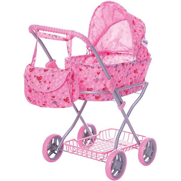 Купить Коляска для кукол Buggy Boom, светло- с сердечками, светло-розовый с сердечками, Китай, Женский