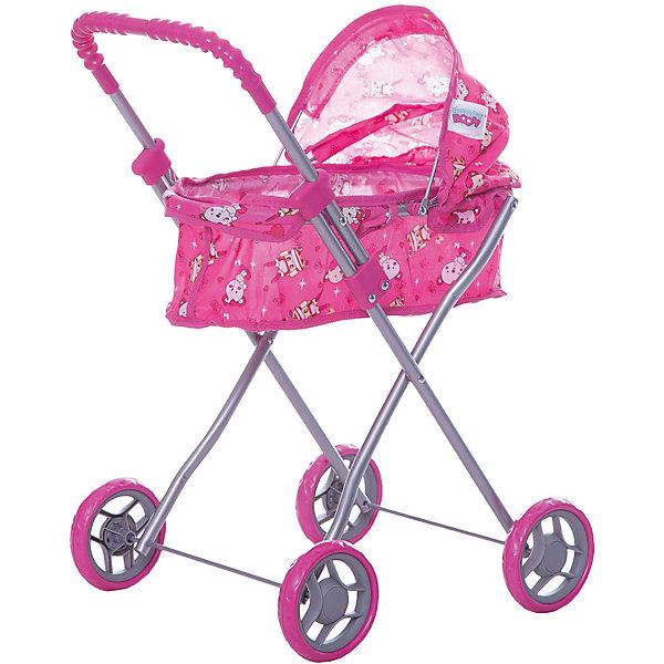 Купить Коляска для кукол Buggy Boom, с мишками, розовый с мишками, Китай, Женский