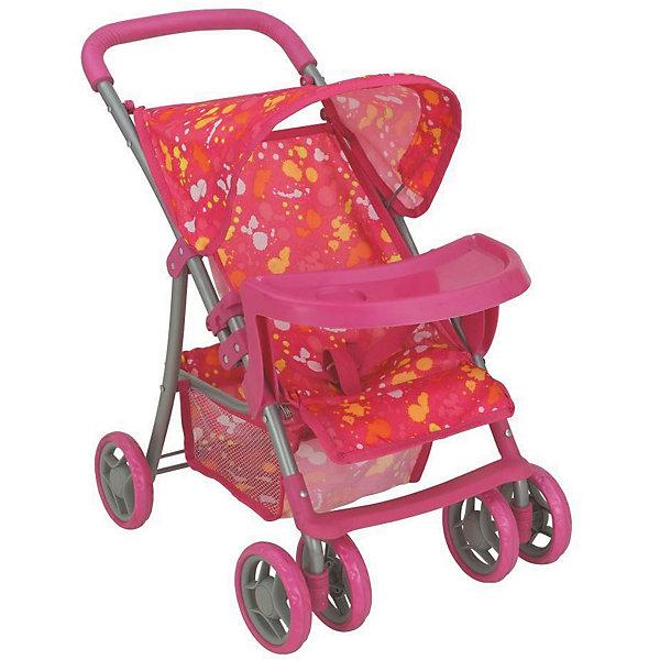 Коляска - трансформер Buggy Boom , розовый с разноцветными пятнамиТранспорт и коляски для кукол<br>Характеристики товара:<br><br>• возраст: от 3 лет;<br>• материал: полиэстер, пластик, металл;<br>• размер коляски: 52х35х56 см;<br>• диаметр колес: 15 см;<br>• размер упаковки: 49х31х16 см;<br>• вес упаковки: 2,02 кг.<br><br>Коляска для кукол Buggy Boom Skyna розовая с разноцветными пятнами — прогулочная коляска для любимой куколки девочки. Коляска оснащена удобным сидением для куклы, ручкой управления, капюшоном. В сидении куколка пристегивается ремешком безопасности. На сидении предусмотрен пластиковый столик для кормления куколки. Сидение выполнено из полиэстера, который легко моется по мере загрязнения. <br><br>Передние сдвоенные колеса вращаются на 360 градусов, делая коляску маневренной. Сзади вместительная корзинка для вещей или игрушек. Небольшой вес коляски позволяет без труда управлять ей, выносить самостоятельно на прогулку и переносить. Для безопасности предусмотрена система защиты от случайного складывания. Рама выполнена из облегченного металла и устойчива к повреждениям. Коляска подойдет для кукол до 35 см.<br><br>Коляску для кукол Buggy Boom Skyna розовую с разноцветными пятнами можно приобрести в нашем интернет-магазине.<br>Ширина мм: 490; Глубина мм: 160; Высота мм: 310; Вес г: 2020; Цвет: розовый; Возраст от месяцев: 36; Возраст до месяцев: 60; Пол: Женский; Возраст: Детский; SKU: 7969209;