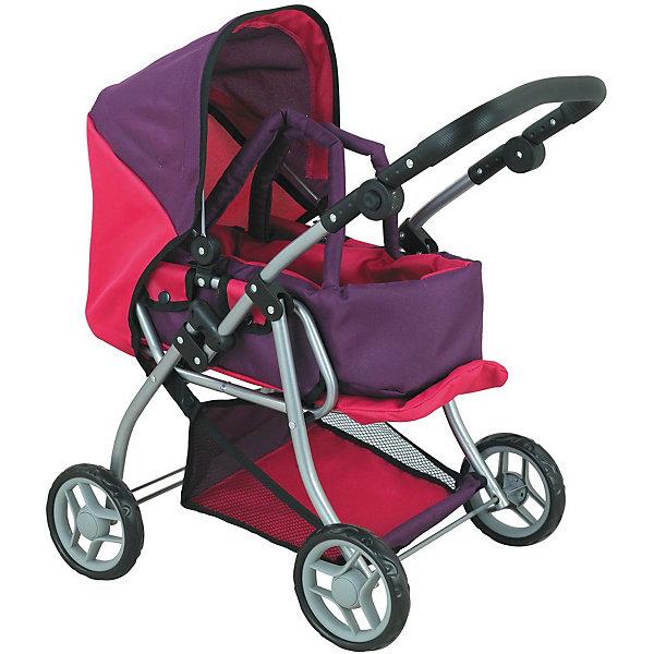 Коляска - трансформер Buggy Boom , розово-фиолетовыйТранспорт и коляски для кукол<br>Характеристики товара:<br><br>• возраст: от 3 лет;<br>• материал: полиэстер, пластик, металл;<br>• в комплекте: коляска, переноска;<br>• размер коляски: 59х36х62 см;<br>• диаметр колес: 15 см;<br>• высота ручки: 50-64 см;<br>• размер упаковки: 47х31х17 см;<br>• вес упаковки: 2,42 кг.<br><br>Коляска-трансформер для кукол Buggy Boom Infinia розово-фиолетовая — коляска для любимой куколки девочки, в комплекте к которой идет переноска с ручками. Переноска устанавливается прямо на сидение, при желании ее можно снять и трансформировать коляску в прогулочную.<br><br>У прогулочной коляски регулируемые спинка и подножка, большой капюшон. На сидении ремешки, при помощи которых куклу можно пристегнуть. Сидение выполнено из полиэстера, который легко моется по мере загрязнения. Ручка для управления регулируется по высоте под рост девочки.<br><br>Под сидением расположена текстильная корзинка для перевозки вещей. Небольшой вес коляски позволяет без труда управлять ей, выносить самостоятельно на прогулку и переносить. Рама выполнена из облегченного металла и устойчива к повреждениям.<br><br>Коляска подойдет для кукол до 40 см.<br><br>Коляску-трансформер для кукол Buggy Boom Infinia розово-фиолетовую можно приобрести в нашем интернет-магазине.<br>Ширина мм: 470; Глубина мм: 170; Высота мм: 310; Вес г: 2420; Цвет: фиолетовый; Возраст от месяцев: 36; Возраст до месяцев: 60; Пол: Женский; Возраст: Детский; SKU: 7969256;