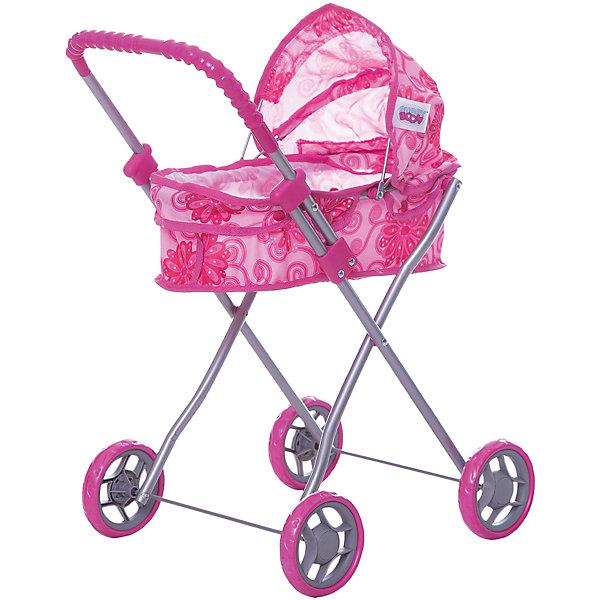 Купить Коляска для кукол Buggy Boom, с цветами, розовый с цветами, Китай, Женский