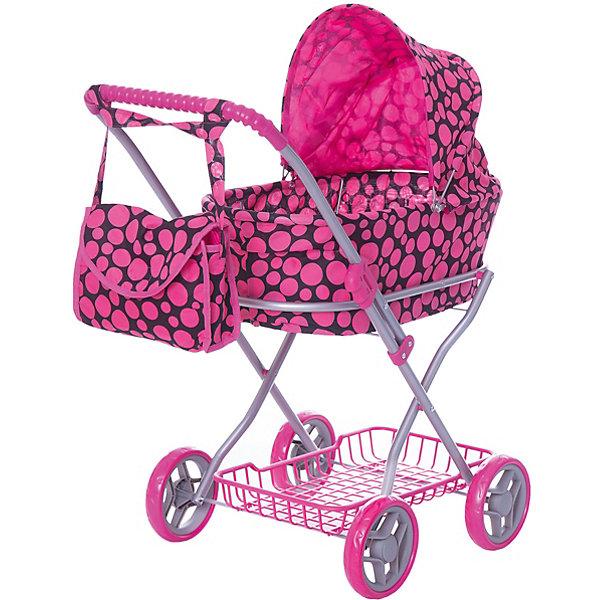 Коляска для кукол Buggy Boom , в горошекТранспорт и коляски для кукол<br>Характеристики товара:<br><br>• возраст: от 2 лет;<br>• материал: полиэстер, пластик, металл;<br>• в комплекте: коляска, сумка;<br>• размер коляски: 69х40х80 см;<br>• диаметр колес: 15 см;<br>• размер упаковки: 65х41х8 см;<br>• вес упаковки: 2,535 кг.<br><br>Коляска для кукол Buggy Boom Mixy — коляска-люлька для любимой куколки девочки. Коляска оснащена удобной ручкой для управления, большими колесами и капюшоном. Внизу корзина для перевозки вещей. А удобная сумочка на ручку коляски позволит девочке взять необходимые вещи на прогулку.<br><br>Сидение выполнено из полиэстера, который легко моется по мере загрязнения. Небольшой вес коляски позволяет без труда управлять ей, выносить самостоятельно на прогулку и переносить. Рама выполнена из облегченного металла и устойчива к повреждениям. Коляска подойдет для кукол до 55 см.<br><br>Коляску для кукол Buggy Boom Mixy можно приобрести в нашем интернет-магазине.<br>Ширина мм: 650; Глубина мм: 410; Высота мм: 80; Вес г: 2535; Цвет: розовый; Возраст от месяцев: 24; Возраст до месяцев: 36; Пол: Женский; Возраст: Детский; SKU: 7969286;