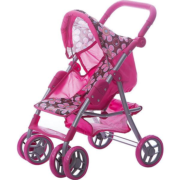 Купить Коляска - трансформер Buggy Boom, розово-бежевый с цветами, Китай, розовый, Женский
