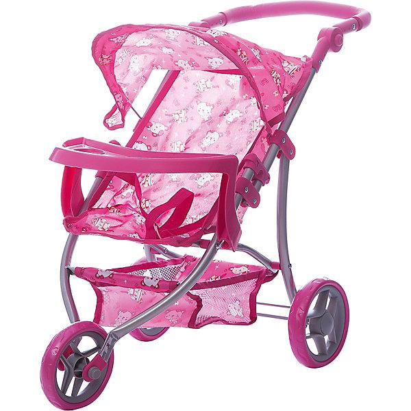 Коляска - трансформер Buggy Boom , розовый с мишкамиТранспорт и коляски для кукол<br>Характеристики товара:<br><br>• возраст: от 3 лет;<br>• материал: полиэстер, пластик, металл;<br>• размер коляски: 59х34х64 см;<br>• диаметр колес: 15 см;<br>• высота ручки: 50-64 см;<br>• размер упаковки: 47х31х15 см;<br>• вес упаковки: 1,97 кг.<br><br>Коляска-трансформер для кукол Buggy Boom Nadin розовая с мишками — трехколесная коляска для любимой куколки девочки. Коляска оснащена удобным мягким сидением для куклы, цельной ручкой управления, складным капюшоном. Ручка для управления регулируется по высоте под рост девочки. В сидении куколка пристегивается ремешком безопасности. На сидении перед куклой установлен пластиковый столик для кормления. Сидение выполнено из полиэстера, который легко моется по мере загрязнения. <br><br>Под сидением вместительная корзинка для вещей или игрушек. Небольшой вес коляски позволяет без труда управлять ей, выносить самостоятельно на прогулку и переносить. Для безопасности предусмотрена система защиты от случайного складывания. Рама выполнена из облегченного металла и устойчива к повреждениям. Коляска подойдет для кукол до 35 см.<br><br>Коляску-трансформер для кукол Buggy Boom Nadin розовую с мишками можно приобрести в нашем интернет-магазине.<br>Ширина мм: 470; Глубина мм: 150; Высота мм: 310; Вес г: 1970; Цвет: розовый; Возраст от месяцев: 36; Возраст до месяцев: 60; Пол: Женский; Возраст: Детский; SKU: 7969323;
