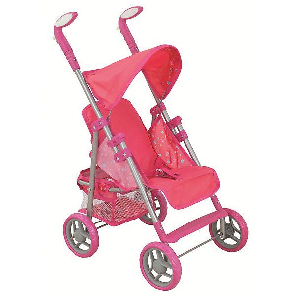 Коляска - трансформер Buggy Boom , розовый с сердечкамиТранспорт и коляски для кукол<br>Характеристики товара:<br><br>• возраст: от 3 лет;<br>• материал: полиэстер, пластик, металл;<br>• размер коляски: 66х33х54 см;<br>• диаметр колес: 15 см;<br>• высота ручки: 56-66 см;<br>• размер упаковки: 52х32х13 см;<br>• вес упаковки: 2,08 кг.<br><br>Коляска-трансформер для кукол Buggy Boom Skyna розовая с сердечками — коляска для любимой куколки девочки. Коляска оснащена удобным мягким сидением для куклы, ручками управления, складным капюшоном. Ручка для управления регулируется по высоте под рост девочки. В сидении куколка пристегивается ремешком безопасности. Наклон спинки регулируется. Сидение выполнено из полиэстера, который легко моется по мере загрязнения. <br><br>Под сидением вместительная корзинка для вещей или игрушек. Небольшой вес коляски позволяет без труда управлять ей, выносить самостоятельно на прогулку и переносить. Для безопасности предусмотрена система защиты от случайного складывания. Рама выполнена из облегченного металла и устойчива к повреждениям. Коляска подойдет для кукол до 35 см.<br><br>Коляску-трансформер для кукол Buggy Boom Skyna розовую с сердечками можно приобрести в нашем интернет-магазине.<br>Ширина мм: 520; Глубина мм: 130; Высота мм: 320; Вес г: 2080; Цвет: розовый; Возраст от месяцев: 36; Возраст до месяцев: 60; Пол: Женский; Возраст: Детский; SKU: 7969327;