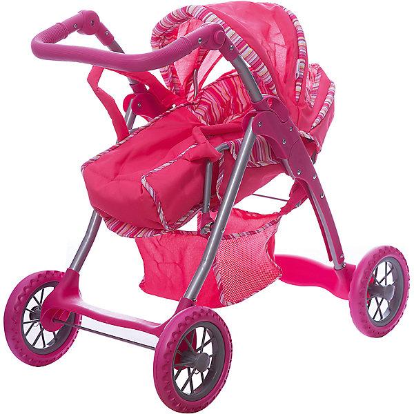Коляска - трансформер Buggy Boom , розовый в полосочкуТранспорт и коляски для кукол<br>Характеристики товара:<br><br>• возраст: от 3 лет;<br>• материал: полиэстер, пластик, металл;<br>• в комплекте: коляска, переноска;<br>• размер коляски: 61х42х69 см;<br>• диаметр колес: 15 см;<br>• высота ручки: 50-70 см;<br>• размер упаковки: 59х37х18 см;<br>• вес упаковки: 4 кг.<br><br>Коляска-трансформер для кукол Buggy Boom Infinia розовая в полосочку — коляска для любимой куколки девочки, в комплекте к которой идет переноска с ручками. Переноска устанавливается прямо на сидение, при желании ее можно снять и трансформировать коляску в прогулочную.<br><br>У прогулочной коляски регулируемая спинка, большой капюшон со смотровым окошком. На сидении ремешки, при помощи которых куклу можно пристегнуть. Сидение выполнено из полиэстера, который легко моется по мере загрязнения. Ручка для управления регулируется по высоте под рост девочки.<br><br>Под сидением расположена текстильная корзинка для перевозки вещей. Небольшой вес коляски позволяет без труда управлять ей, выносить самостоятельно на прогулку и переносить. Рама выполнена из облегченного металла и устойчива к повреждениям.<br><br>Коляска подойдет для кукол до 40 см.<br><br>Коляску-трансформер для кукол Buggy Boom Infinia розовую в полосочку можно приобрести в нашем интернет-магазине.<br>Ширина мм: 590; Глубина мм: 180; Высота мм: 370; Вес г: 4000; Цвет: розовый; Возраст от месяцев: 36; Возраст до месяцев: 60; Пол: Женский; Возраст: Детский; SKU: 7969331;