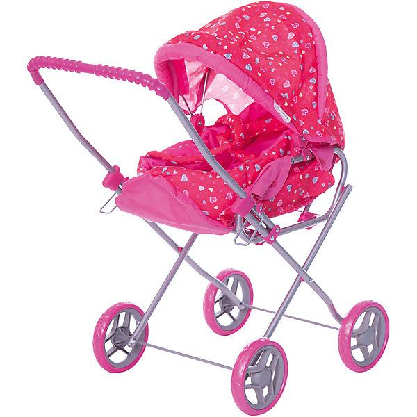 Купить Коляска - трансформер Buggy Boom, с сердечками, розовый с сердечками, Китай, Женский