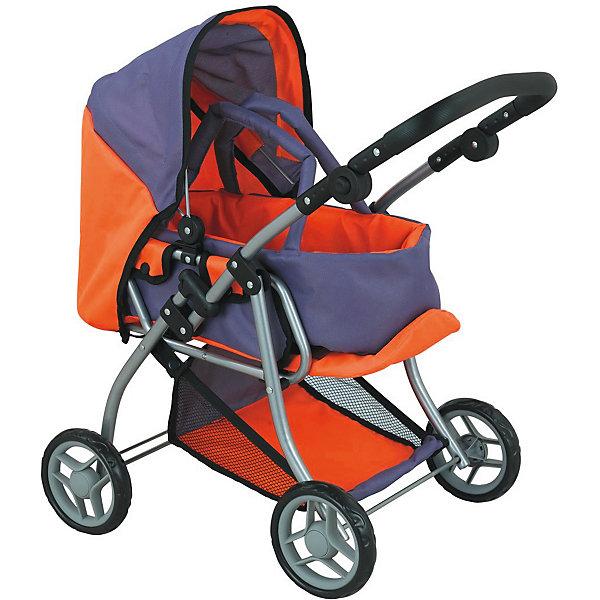 Коляска - трансформер Buggy Boom , оранжево-сиреневыйТранспорт и коляски для кукол<br>Характеристики товара:<br><br>• возраст: от 3 лет;<br>• материал: полиэстер, пластик, металл;<br>• в комплекте: коляска, переноска;<br>• размер коляски: 59х36х62 см;<br>• диаметр колес: 15 см;<br>• высота ручки: 50-64 см;<br>• размер упаковки: 47х31х17 см;<br>• вес упаковки: 2,42 кг.<br><br>Коляска-трансформер для кукол Buggy Boom Infinia оранжево-сиреневая — коляска для любимой куколки девочки, в комплекте к которой идет переноска с ручками. Переноска устанавливается прямо на сидение, при желании ее можно снять и трансформировать коляску в прогулочную.<br><br>У прогулочной коляски регулируемые спинка и подножка, большой капюшон. На сидении ремешки, при помощи которых куклу можно пристегнуть. Сидение выполнено из полиэстера, который легко моется по мере загрязнения. Ручка для управления регулируется по высоте под рост девочки.<br><br>Под сидением расположена текстильная корзинка для перевозки вещей. Небольшой вес коляски позволяет без труда управлять ей, выносить самостоятельно на прогулку и переносить. Рама выполнена из облегченного металла и устойчива к повреждениям.<br><br>Коляска подойдет для кукол до 40 см.<br><br>Коляску-трансформер для кукол Buggy Boom Infinia оранжево-сиреневую можно приобрести в нашем интернет-магазине.<br>Ширина мм: 470; Глубина мм: 170; Высота мм: 310; Вес г: 2420; Цвет: оранжевый; Возраст от месяцев: 36; Возраст до месяцев: 60; Пол: Женский; Возраст: Детский; SKU: 7969375;