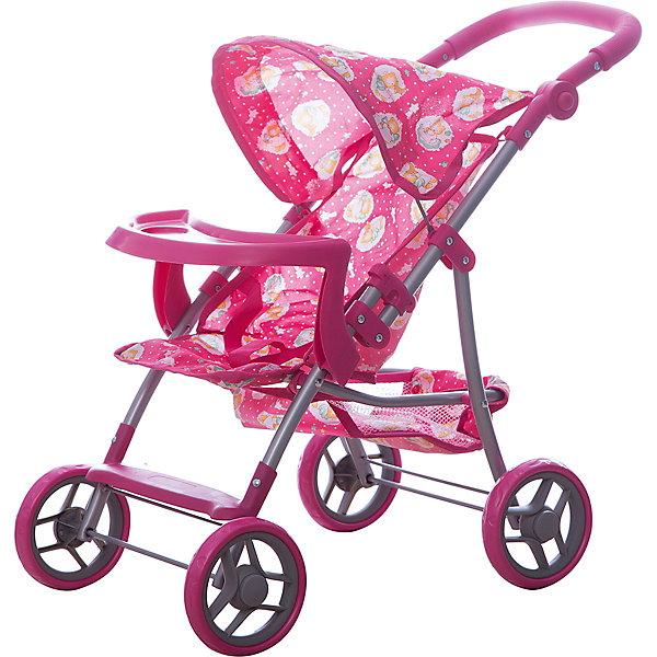 Купить Коляска для кукол Buggy Boom, с рисунком, розовый с рисунком, Китай, Женский