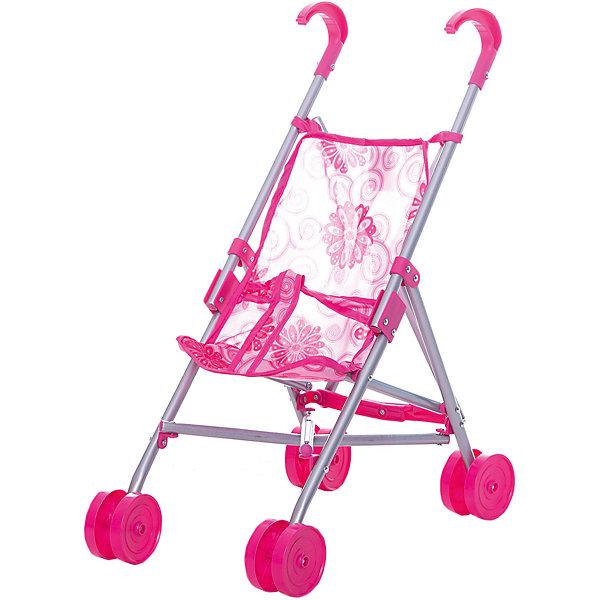 Купить Коляска-трость для кукол Buggy Boom, с цветами, розовый с цветами, Китай, Женский