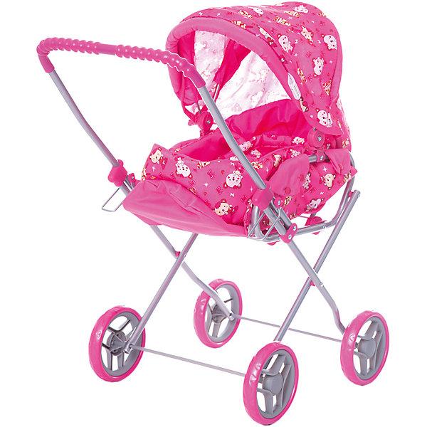 Коляска - трансформер Buggy Boom , розовый с мишкамиТранспорт и коляски для кукол<br>Характеристики товара:<br><br>• возраст: от 2 лет;<br>• материал: полиэстер, пластик, металл;<br>• в комплекте: коляска, переноска;<br>• размер коляски: 61х35х66 см;<br>• диаметр колес: 13 см;<br>• размер упаковки: 52х30х13 см;<br>• вес упаковки: 1,8 кг.<br><br>Коляска-трансформер для кукол Buggy Boom Mixy розовая с мишками — коляска для любимой куколки девочки, в комплекте к которой идет переноска с ручками. Переноска устанавливается прямо на сидение, при желании ее можно снять и трансформировать коляску в прогулочную.<br><br>У прогулочной коляски регулируемые спинка и подножка, большой капюшон. На сидении ремешки, при помощи которых куклу можно пристегнуть. Сидение выполнено из полиэстера, который легко моется по мере загрязнения. Небольшой вес коляски позволяет без труда управлять ей, выносить самостоятельно на прогулку и переносить. Рама выполнена из облегченного металла и устойчива к повреждениям. Коляска подойдет для кукол до 35 см.<br><br>Коляску-трансформер для кукол Buggy Boom Mixy розовую с мишками можно приобрести в нашем интернет-магазине.<br>Ширина мм: 520; Глубина мм: 300; Высота мм: 130; Вес г: 1800; Цвет: розовый; Возраст от месяцев: 24; Возраст до месяцев: 36; Пол: Женский; Возраст: Детский; SKU: 7969438;