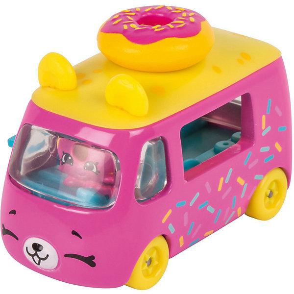 Игровой набор Moose Cutie Car Машинка с мини-фигуркой Shopkins, Donut ExpressКоллекционные фигурки<br>Характеристики:<br><br>• возраст: от 5 лет;<br>• материал: пластик;<br>• в наборе: 1 машинка Cutie Car, фигурка водителя мини-Shopkins, брошюра коллекционера;<br>• вес упаковки: 90 гр.;<br>• размер упаковки: 16х4,5х10,5 см;<br>• страна бренда: Австралия.<br><br>Набор из коллекции Shopkins Cutie Car от бренда Moose создан специально для девочек. Серия включает миловидные машинки в виде забавных животных, фруктов и десертов. К ним прилагаются соответствующие по дизайну фигурки Shopkins.<br><br>В этой линейке представлены кабриолеты, багги и внедорожники с откидной крышей, а также фургончики со сладостями. Собрав всю коллекцию, ребенок сможет устраивать заезды, придумывать сюжетные игры. Колеса игрушки подвижны. Выполнено из качественных безопасных материалов.<br><br>Машинку Cutie Car с мини-фигуркой Shopkins S1 в блистере в асс. можно купить в нашем интернет-магазине.<br>Ширина мм: 160; Глубина мм: 45; Высота мм: 105; Вес г: 90; Цвет: розовый; Возраст от месяцев: 60; Возраст до месяцев: 2147483647; Пол: Женский; Возраст: Детский; SKU: 7979588;