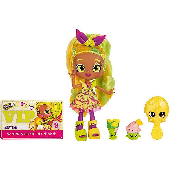Мини-кукла Moose Shopkins Яркая ЛемониКуклы<br>Характеристики:<br><br>• возраст: от 5 лет;<br>• материал: пластик;<br>• в наборе: кукла, 2 фигурки Shopkins, расческа, VIP карточка, подставка для куклы;<br>• вес упаковки: 250 гр.;<br>• размер упаковки: 27х17,8х17 см;<br>• страна бренда: Австралия.<br><br>Куколка Shoppies от бренда Moose выполнена в красочном ярком дизайне с цветными волосами. Волосы можно мыть, расчесывать и собирать в прически. У куклы есть друзья – две забавные фигурки в виде еды. Специальная карточка открывает доступ к игровым мобильным приложениям.<br><br>Для устойчивого положения игрушки предусмотрена подставка. Набор выполнен из качественных безопасных материалов.<br><br>Куклу Shoppies «Яркая Лемони» можно купить в нашем интернет-магазине.<br>Ширина мм: 270; Глубина мм: 178; Высота мм: 170; Вес г: 250; Цвет: желтый; Возраст от месяцев: 60; Возраст до месяцев: 2147483647; Пол: Женский; Возраст: Детский; SKU: 7979604;