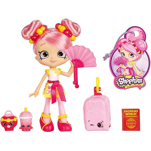 Мини-кукла Moose Shopkins Путешествие в Азию, ПузыреллаКуклы<br>Характеристики:<br><br>• возраст: от 5 лет;<br>• материал: пластик;<br>• в наборе: кукла, 2 фигурки Shopkins, чемодан, паспорт, багажная бирка, подставка для куклы;<br>• вес упаковки: 230 гр.;<br>• размер упаковки: 17х7х27 см;<br>• страна бренда: Австралия.<br><br>Куколка Shoppies серии «Путешествие в Азию» от бренда Moose выполнена в красочном дизайне под стиль восточной страны. Цветные волосы можно расчесывать. У куклы есть друзья – две забавные фигурки в виде еды. Номер на документе куклы открывает доступ к игровым мобильным приложениям.<br><br>Для устойчивого положения игрушки предусмотрена подставка. Набор выполнен из качественных безопасных материалов.<br><br>Куклу Shoppies Пузырелла «Путешествие в Азию» можно купить в нашем интернет-магазине.<br>Ширина мм: 270; Глубина мм: 178; Высота мм: 170; Вес г: 230; Цвет: розовый; Возраст от месяцев: 60; Возраст до месяцев: 2147483647; Пол: Женский; Возраст: Детский; SKU: 7979610;