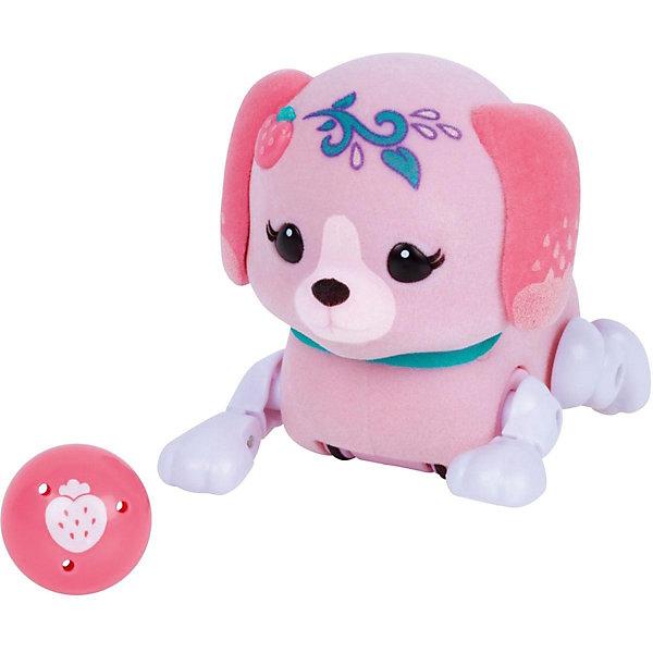 Интерактивный щенок Moose Little Live Pets Клубничка с мячикомИнтерактивные животные<br>Характеристики:<br><br>• возраст: от 5 лет;<br>• материал: пластик, магнит, флок;<br>• в наборе: щенок, игрушка;<br>• тип батареек: 3хAG13;<br>• наличие батареек: в комплекте;<br>• вес упаковки: 190 гр.;<br>• размер упаковки: 8х22х17 см;<br>• страна бренда: Австралия.<br><br>Интерактивный щенок Moose Little Live Pets с мячиком умеет бегать, стоять на задних лапках, когда просит мячик и гавкать во время прикосновений к нему. После веселых игр песик уснет, а чтобы его разбудить, достаточно потрогать его хвостик.<br><br>Мячик можно прикрепить к груди игрушки на магнит. Пластиковая собачка отделана флоком, приятная на ощупь, выполнена в ярких цветах. Сделано из безопасных материалов.<br><br>Щенка с мячиком «Клубничка» можно купить в нашем интернет-магазине.<br>Ширина мм: 81; Глубина мм: 220; Высота мм: 170; Вес г: 190; Цвет: розовый; Возраст от месяцев: 60; Возраст до месяцев: 2147483647; Пол: Унисекс; Возраст: Детский; SKU: 7979640;