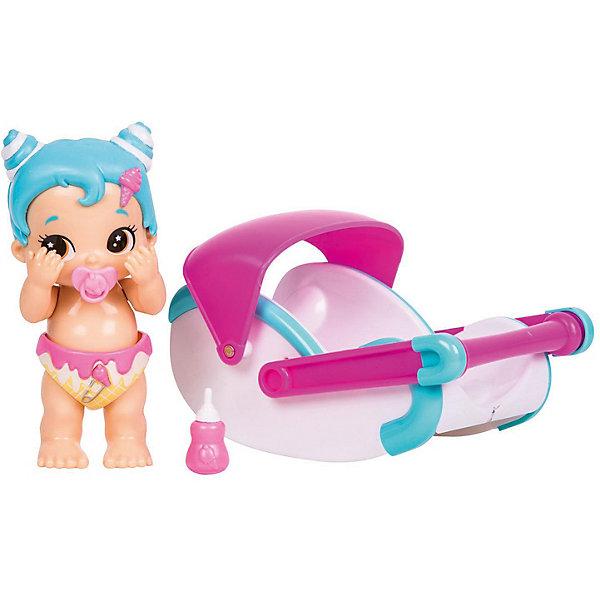 Купить Интерактивная кукла Moose Bizzy Bubs Кудряшка с переноской, Китай, синий, Женский
