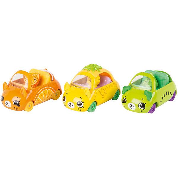 Игровой набор Moose Cutie Car Три машинки с мини-фигурками Shopkins, Fast and FruityКоллекционные фигурки<br>Характеристики:<br><br>• возраст: от 5 лет;<br>• материал: пластик;<br>• в наборе: 3 машинки Cutie Car, 3 фигурки водителей мини-Shopkins, брошюра коллекционера;<br>• вес упаковки: 220 гр.;<br>• размер упаковки: 7х23х16 см;<br>• страна бренда: Австралия.<br><br>Набор из коллекции Shopkins Cutie Car от бренда Moose создан специально для девочек. Комплект включает миловидные кабриолеты и машинку в виде забавных животных с ушками. К ним прилагаются соответствующие по дизайну фигурки Shopkins. Их можно усадить в транспорт.<br><br>В этой линейке представлены кабриолеты, багги и внедорожники с откидной крышей, а также фургончики со сладостями. Собрав всю коллекцию, ребенок сможет устраивать заезды, придумывать сюжетные игры. Колеса игрушек подвижны. Выполнено из качественных безопасных материалов.<br><br>3 машинки Cutie Car с мини-фигурками Shopkins S1 в блистере в асс. можно купить в нашем интернет-магазине.<br>Ширина мм: 7; Глубина мм: 23; Высота мм: 16; Вес г: 220; Цвет: желтый; Возраст от месяцев: 60; Возраст до месяцев: 2147483647; Пол: Женский; Возраст: Детский; SKU: 7979720;