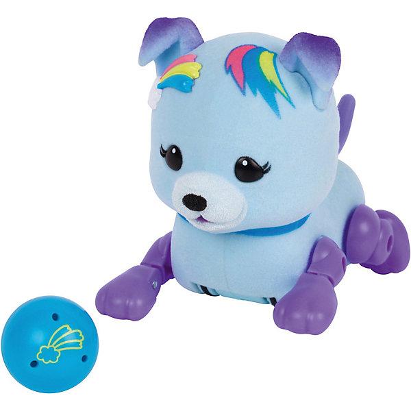 Интерактивный щенок Moose Little Live Pets Звёздочка с мячикомИнтерактивные животные<br>Характеристики:<br><br>• возраст: от 5 лет;<br>• материал: пластик, магнит, флок;<br>• в наборе: щенок, игрушка;<br>• тип батареек: 3хAG13;<br>• наличие батареек: в комплекте;<br>• вес упаковки: 190 гр.;<br>• размер упаковки: 8х22х17 см;<br>• страна бренда: Австралия.<br><br>Интерактивный щенок Moose Little Live Pets с мячиком умеет бегать, стоять на задних лапках, когда просит мячик и гавкать во время прикосновений к нему. После веселых игр песик уснет, а чтобы его разбудить, достаточно потрогать его хвостик.<br><br>Мячик можно прикрепить к груди игрушки на магнит. Пластиковая собачка отделана флоком, приятная на ощупь, выполнена в ярких цветах. Сделано из безопасных материалов.<br><br>Щенка с мячиком «Звездочка» можно купить в нашем интернет-магазине.<br>Ширина мм: 81; Глубина мм: 220; Высота мм: 170; Вес г: 190; Цвет: синий; Возраст от месяцев: 60; Возраст до месяцев: 2147483647; Пол: Унисекс; Возраст: Детский; SKU: 7979742;