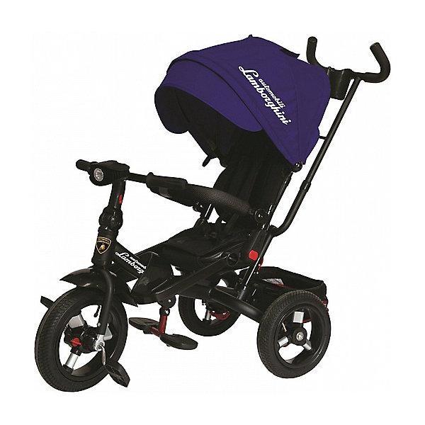 Трехколесный велосипед Lamborghini колеса 10/12, синийВелосипеды и аксессуары<br>Характеристики:<br><br>• 3-х колесный велосипед-трансформер с функциями детской коляски;<br>• для детей от 1 года;<br>• устойчивая конструкция;<br>• регулируемое положение спинки, 15-20 градусов;<br>• поворотное мягкое сиденье;<br>• 5-ти точечные ремни безопасности;<br>• бампер безопасности с мягкими подлокотниками;<br>• складные подставки для ног;<br>• дополнительные подножки для малышей;<br>• складная фара со звуком и светодиодными лампочками;<br>• регулируемая высота руля;<br>• регулируемая ручка управления с подстаканником;<br>• складной капюшон с фиксаторами положения;<br>• капор оборудован солнцезащитным козырьком (отстегивается) и смотровым окошком под клапаном;<br>• имеется корзинка для игрушек;<br>• тормоз задних колес;<br>• свободный ход колес;<br>• диаметр колес 10 и 12 дюймов;<br>• материал: металлическая рама, пластиковые педали, надувные фактурные колеса, мягкий вкладыш-кенгуру.<br><br>Велосипед-трансформер для детей старше 12 месяцев, которые уверенно сидят. <br><br>Используется в 3-х позициях:<br><br>1. Велосипед-коляска с ремнями безопасности, страховочным ободом и специальной подножкой для малышей. Оборудован родительской ручкой управления и глубоким капором с солнцезащитным козырьком. Сиденье детского велосипеда разворачивается на 360 градусов, имеется мягкая спинка. <br><br>2. Велосипед с родительской ручкой, сиденьем чашеобразной формы, корзиной для игрушек и пластиковыми подножками для ребенка.<br><br>3. Типичный 3-х колесный велосипед с функциональным рулем и пластиковыми педалями. <br><br>Трехколесный велосипед Lamborghini колеса 10/12, синий можно купить в нашем интернет-магазине.<br>Ширина мм: 600; Глубина мм: 410; Высота мм: 300; Вес г: 14100; Цвет: синий; Возраст от месяцев: 144; Возраст до месяцев: 36; Пол: Мужской; Возраст: Детский; SKU: 7980218;