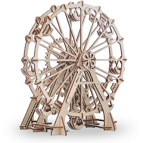 Сборная модель Wood Trick Колесо ОбозренияДеревянные модели<br>Характеристики:<br><br>• возраст: от 14 лет;<br>• материал: дерево;<br>• количество деталей: 219;<br>• вес упаковки: 800 гр.;<br>• размер упаковки: 37х18х3 см;<br>• страна производитель: Украина.<br><br>Сборная модель Wood Trick Колесо Обозрения не оставит никого равнодушным. <br>Она состоит из 219 деталей, с его сборкой легко справится как взрослый, так и ребенок, тем более, что к набору прилагается простая и понятная инструкция. Внимательно ознакомьтесь с инструкцией по сборке, и вы сможете легко собрать собственную модель колеса обозрения!<br><br>Изделие выполнено из гладкой березовой фанеры, не имеющей заусенцев, поэтому удобно для покраски и безопасно для сборки.<br><br>Сборная модель Wood Trick Колесо Обозрения  можно купить в нашем интернет-магазине.<br>Ширина мм: 370; Глубина мм: 185; Высота мм: 35; Вес г: 800; Цвет: бежевый; Возраст от месяцев: 168; Возраст до месяцев: 1188; Пол: Унисекс; Возраст: Детский; SKU: 7980852;