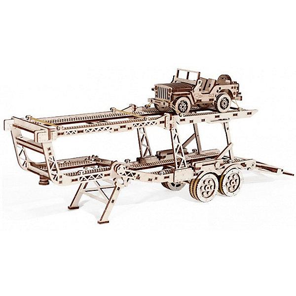 Сбоная модель  Wood Trick Прицеп АвтовозДеревянные модели<br>Характеристики:<br><br>• возраст: от 14 лет;<br>• материал: дерево;<br>• количество деталей: 229;<br>• вес упаковки: 1000 гр.;<br>• размер упаковки: 37х18х3 см;<br>• страна производитель: Украина.<br><br>Прицеп автовоз является дополнением к основной модели Тягач. Он крепится на специальную соединительную деталь для установки. На вершине прицепа сооружается небольшой джип, который так же идет в комплекте.<br><br>Теперь ваш тягач имеет завершенный вид, и вы можете смело перевозить на нем небольшие модели машин. Это станет отличным вариантом для подарка ребенку. Все материалы, из которых изготавливаются конструкторы, экологически чистые и вы можете доверить вашему ребенку играть с собранными конструкторами Wood Trick.<br><br>Изделие выполнено из гладкой березовой фанеры, не имеющей заусенцев, поэтому удобно для покраски и безопасно для сборки.<br><br>Сбоная модель  Wood Trick Погрузчик можно купить в нашем интернет-магазине.<br>Ширина мм: 370; Глубина мм: 185; Высота мм: 35; Вес г: 1100; Цвет: бежевый; Возраст от месяцев: 168; Возраст до месяцев: 1188; Пол: Унисекс; Возраст: Детский; SKU: 7980890;