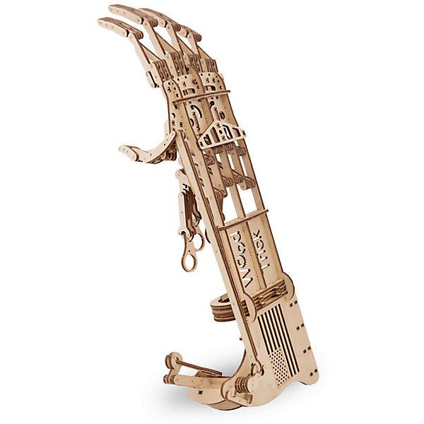 Сборная модель Wood Trick Экзоскелет РукиДеревянные модели<br>Характеристики:<br><br>• возраст: от 14 лет;<br>• материал: дерево;<br>• количество деталей: 199;<br>• вес упаковки: 800 гр.;<br>• размер упаковки: 37х18х3 см;<br>• страна производитель: Украина.<br><br>Сборная модель Wood Trick Экзоскелет Руки не оставит никого равнодушным. <br> Модель позволяет захватывать и переносить небольшие предметы. Вы даже можете разыграть друзей: представьте, что со спины им на плечо ляжет огромная тяжелая ладонь! То-то они испугаются! Мы даже не можем предположить, какое применение Вы сможете придумать для этой модели, ведь их просто бесконечно много!<br>Изделие выполнено из гладкой березовой фанеры, не имеющей заусенцев, поэтому удобно для покраски и безопасно для сборки.<br><br>Сборная модель Wood Trick Экзоскелет Руки  можно купить в нашем интернет-магазине.<br>Ширина мм: 370; Глубина мм: 185; Высота мм: 35; Вес г: 800; Цвет: бежевый; Возраст от месяцев: 168; Возраст до месяцев: 1188; Пол: Унисекс; Возраст: Детский; SKU: 7980896;